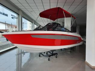COMPASS 190BR BOW RIDER-RED  GREY GRAPHICS