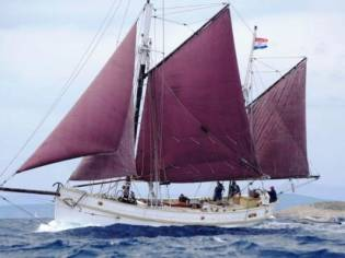 Classic Haikutter Gaff Rigged Ketch