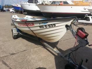 Fischerboot KM 420 L inkl. Straßentrailer und 5 PS