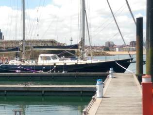 Steel ketch two cano heck Dutch build