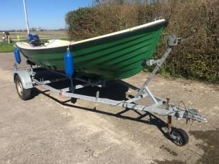Open vis motor boot met 7,5 pk BB incl trailer