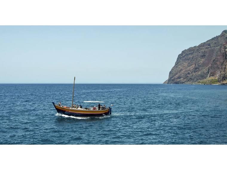 Wood old fishing boat  Madeiran chavelha