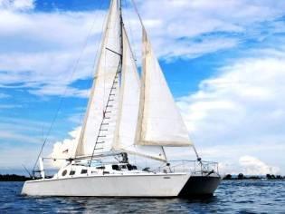 Cutter-Rigged Catamaran
