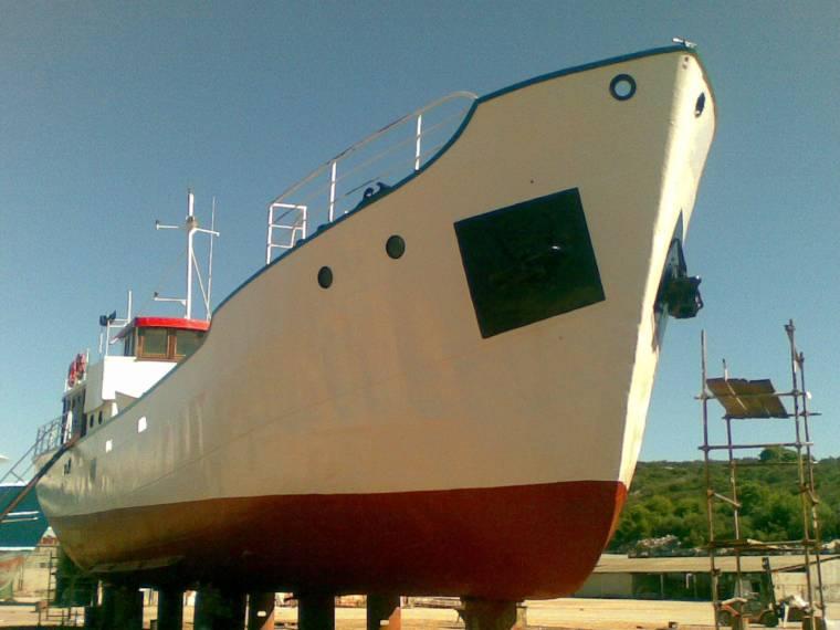 Steel cargo ship
