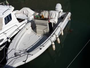 Sea Ray Laguna 20 con ormeggio a banchina