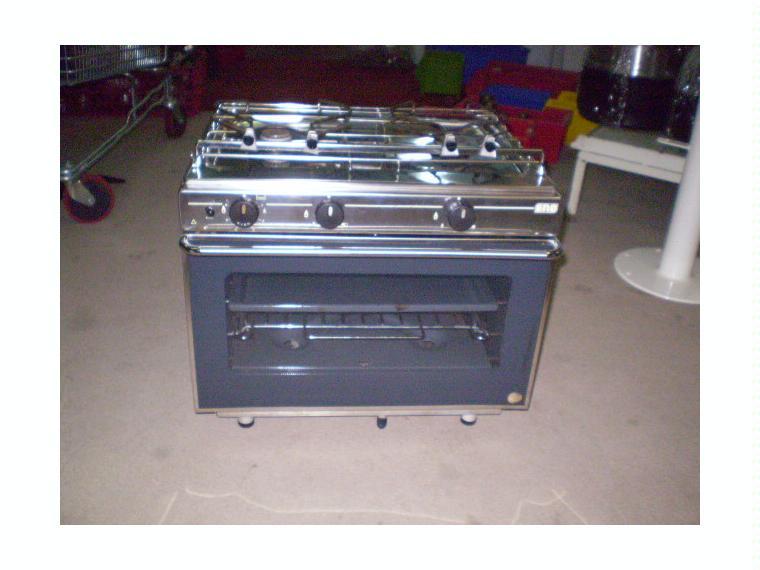 Cocina marca eno 2 fogones horno inox gas de segunda for Material cocina segunda mano