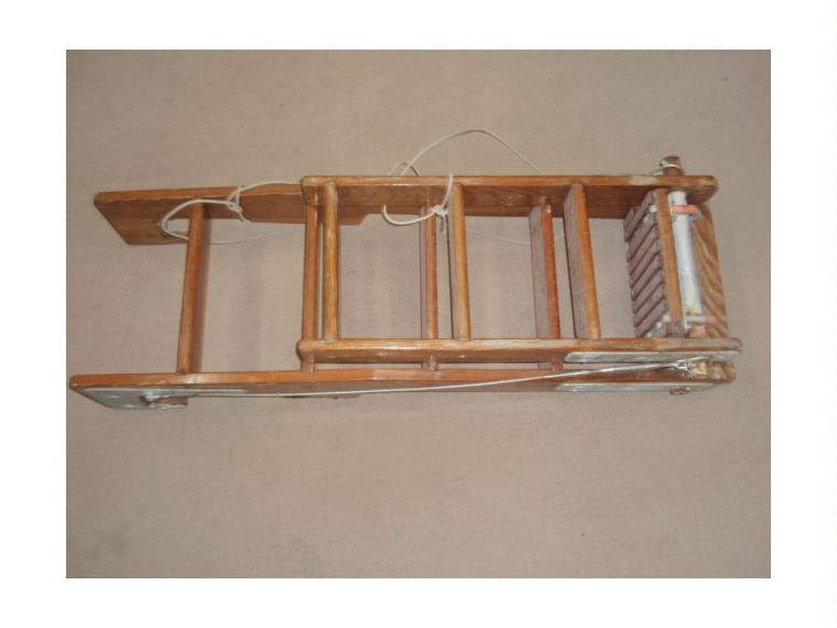 Escalera ba o madera 8 peld plegable de segunda mano - Escaleras de madera de segunda mano ...