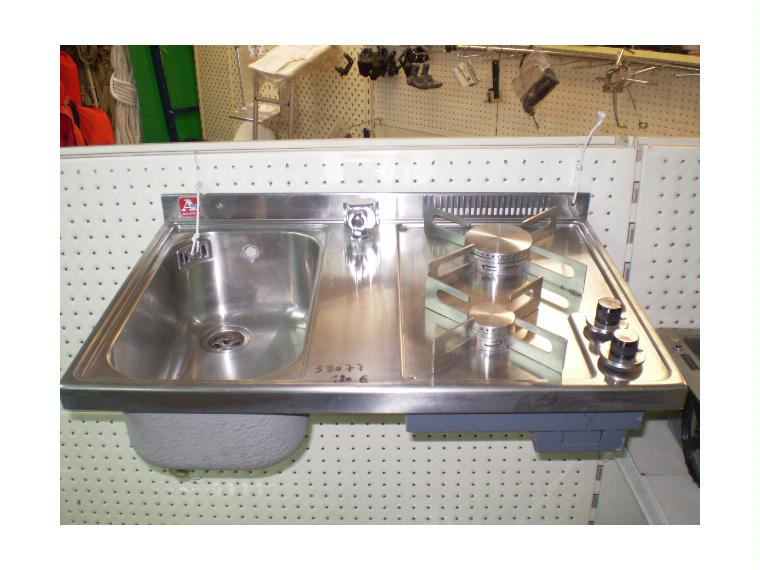 cocina butano fregadero inox alpes 60x40 de segunda mano