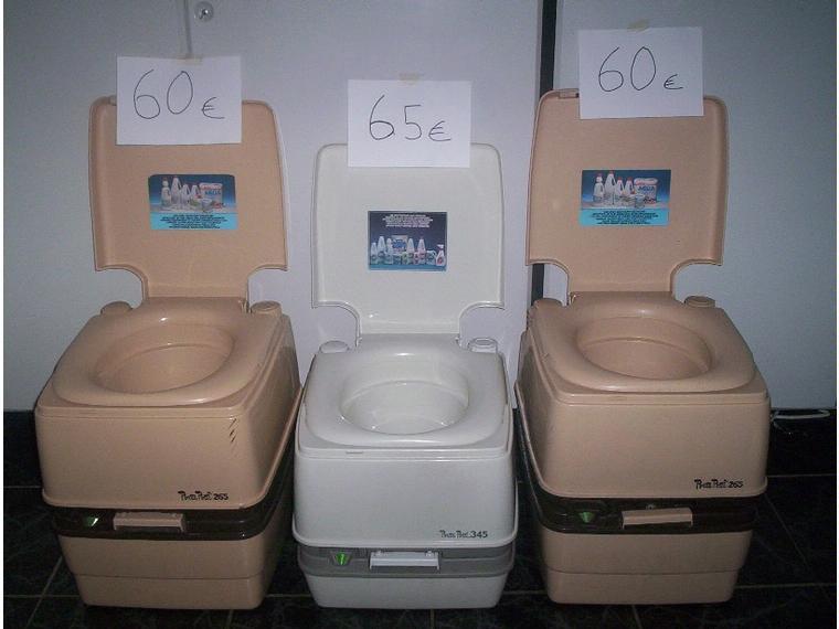 Wc portatil o inodoro quimico para barcos o caravanas de for Grifos de segunda mano