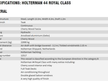 Holterman Blauwe Hand 13.50 Royal Class
